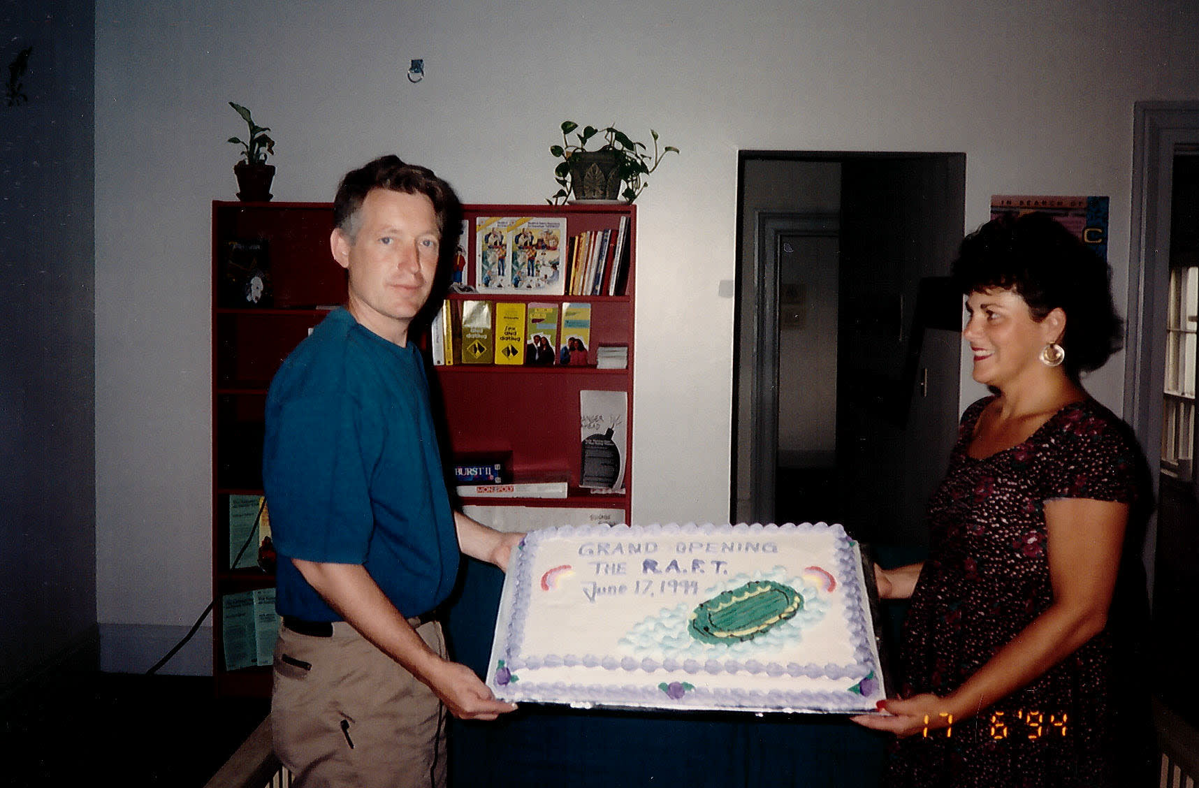 Founding Members of the RAFT Board Celebrating day one with a commemorative cake